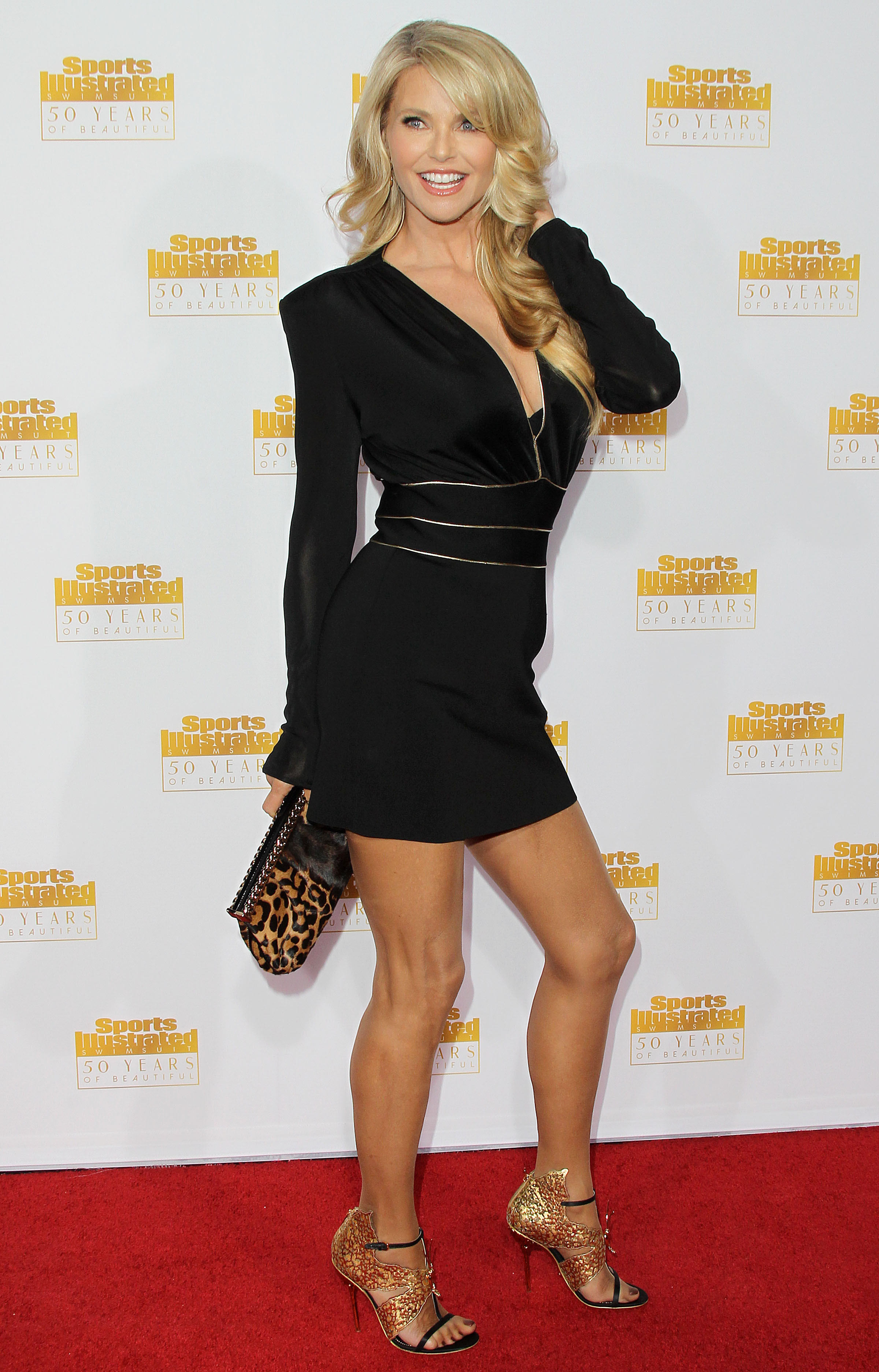CHRISTIE BRINKLEY at SI Swimsuit Issue 50th Anniversary